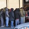 Sneaker Fans on Line for Jordan Retro IV's