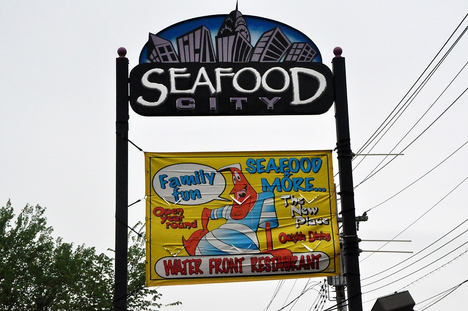 City Island Has Family Restaurants Like Seafood An Energetic Loud Cafeteria Style Spot With Outdoor Seating And Arcade