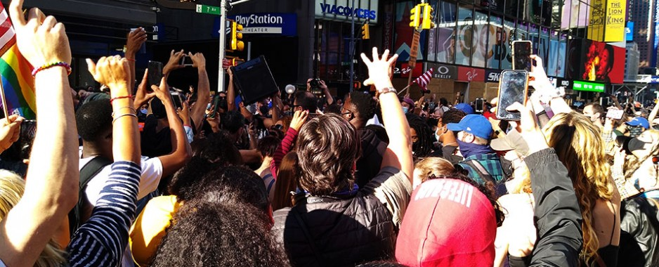 Times Square Throws an Election Block Party