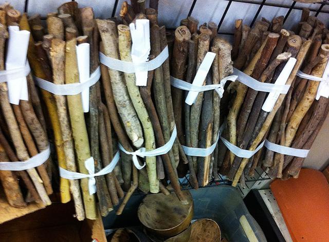 Palo (sticks) used in ceremonies.