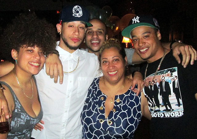 Anthony with his family and mother, Judith Lopez